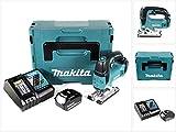 Makita DJV 182 RG1J Akku Stichsäge 18V Brushless 26mm im Makpac mit 1x BL1860B 6,0 Ah Akku und DC18RC Ladegerät