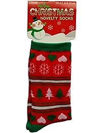 Men's & pour chaussettes de Noël Motifs variés & Coton Polyester