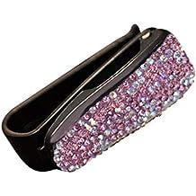 NOPNOG KFZ Brillenhalterung Sonne Visier Clip Strass Dekoration Sonnenbrille Clip Violett