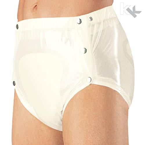 Suprima Inkontinenz PVC-Slip knöpfbar Art. 1-249-001 (unisex) - Gr. L - weiss