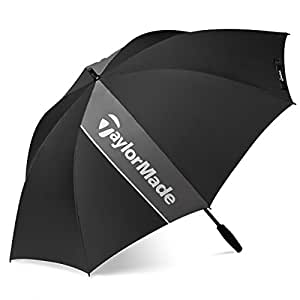 "2015 TaylorMade 60"" Single Canopy Mens Golf Umbrella Black"