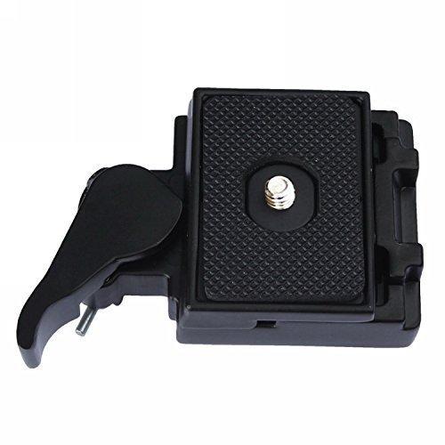 Fafada Kamera-Schnellwechsel Montage und Schiebe Platte Halterung-Schwarz für Manfrotto 323 (Schiebe-platte Adapter)