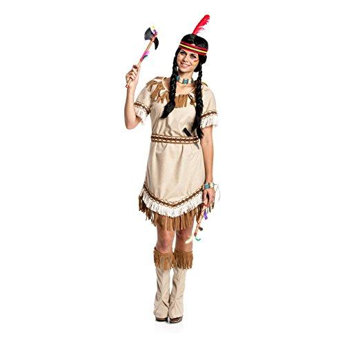 Kostüm Indianer Squaw - Kostümplanet® Indianerin-Kostüm Damen Indianer-Kostüm sexy Squaw Faschings-Kostüm Größe 36/38