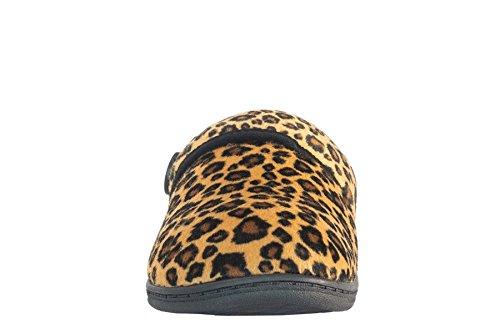 VIONIC Paire Laura Chaussons - Tan Leopard
