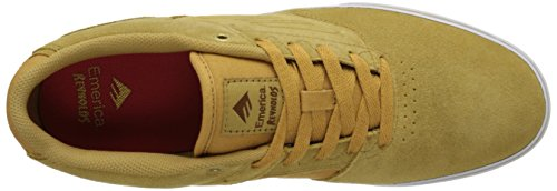 Emerica The Reynolds Low Vulc, Chaussures de skateboard homme Tan/White/Gum