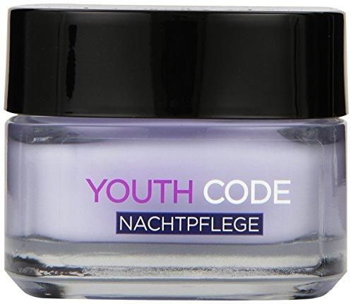L\'Oreal Paris Youth Code Nachtpflege, spendet Feuchtigkeit und glättet die Haut, 50 ml