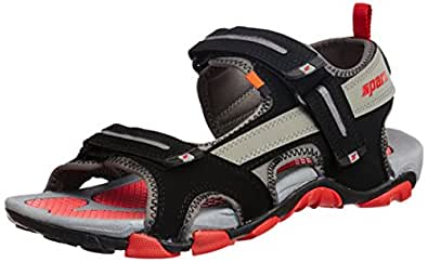 Sparx Men's Black and Red Mesh Athletic & Outdoor Sandals (SS0429G) - 6 UK