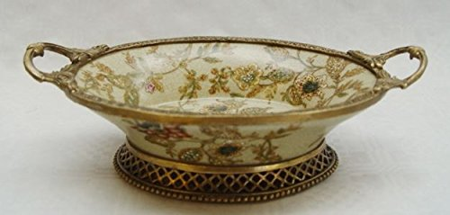 Casa Padrino Luxus Barock Porzellan Schale mit 2 Griffen - Antik Stil Schale