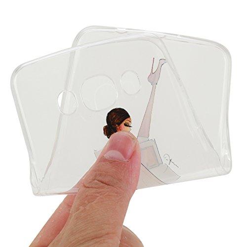 Custodia iPhone 7 Case Cover, Cozy Hut cover iPhone 7 (4,7 Zoll) silicone case ultra-thin bumper Skin - Slim custodia protettiva iPhone 7 (4,7 Zoll) caso crystal clear Shock-Absorption gel-back| Col Moda donna