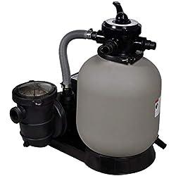 vidaXL Pompe à Filtre à Sable de Piscine 600 W 17000 l/h Pompe de Filtration