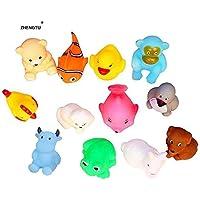 ZHENGTU Chu Chu Bath Toys for Baby Non-Toxic Toddler Set Multi Color (1 Set - 12 Pcs)