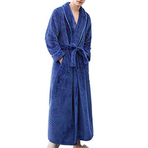 c39d73aa31c00 BaZhaHei Peignoir Homme Femme Hiver Long, Unisexe Confortable Robe de  Chambre Salle de Bain Kimonos