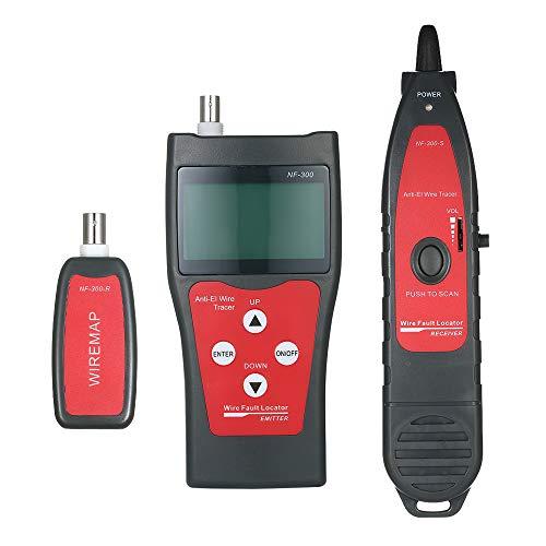 Preisvergleich Produktbild Leepesx Multifunktions-LCD-Netzwerkkabeltester RJ11 RJ45 Wire Length Finder mit 1 Remote-Adapter