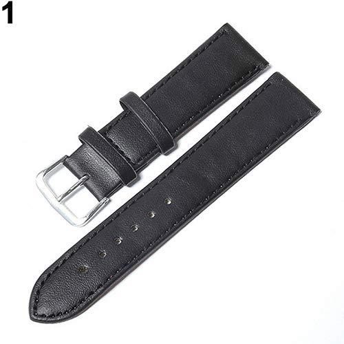 AchidistviQ Unisex Mode Lässig Kunstleder Universal Uhrenarmband Weiche Armband Black 12 mm - Gummi Uhrenarmband 12mm