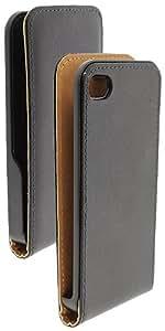 Fonerange Black Slim Executive Leather Flip Case Cover for Apple iPhone 4 / iPhone 4S