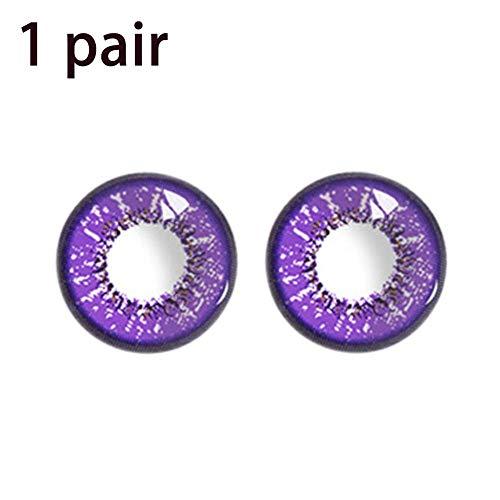 (2PCS Farbige kosmetische Kontaktlinsen Halloween Cosplay Große Augen Mädchen Stil Kontaktlinsen Großes Auge)