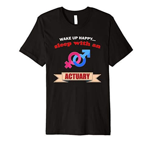 aktuar (versicherungswirtschaft) Geschenk T-Shirt, versicherungsmathematik Wake Happy Sleep