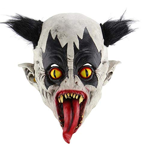 Kostüm Zombie Maske Batman - wnddm Halloween Latex Clown Maske Mit Haar Kostüm Party Requisiten Masken Batman Maske Horrific Demon Scary Devil Flame Zombie Bat Maske