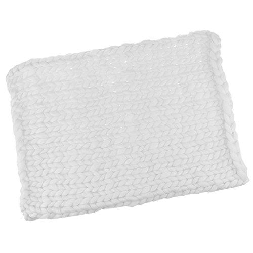 Gazechimp Baby Decke DIY neugeborenes Baby Fotografie Wrap Baby fotoshooting Requisiten - Weiß, 50cm * 50cm