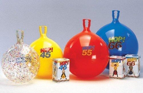 Preisvergleich Produktbild 1x Hüpfball Hop 55 von GYMNIC / Kinder-Hüpfball mit Griff / Größe: Ø 55 cm / Farbe: rot / max. Belastung: 150 kg / 6+