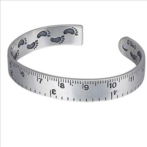 ChenHui S925 Sterling Silber Schmuck Hipster kreative Lineal Armband Persönlichkeit Skala Armband männlich und weiblich