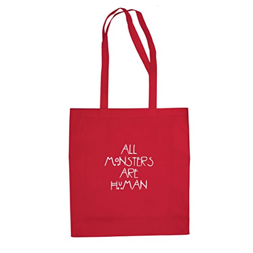All Monsters are Human - Stofftasche / Beutel, Farbe: rot