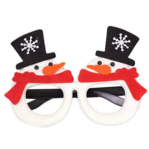 happy event_Christmas Glasses Snowman Frame Happy New Year Kids Favors Xmas Gift Party Decor (C)