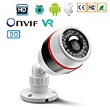 1080P 2MP HD Outdoor Waterproof Wireless WiFi Security Camera, Home Monitoring and Surveillance IP Camera, Smart Alert Camera with Motion Detection, Email Mobile Alarm