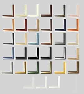Colorado cadre photo mDF v 55 x 35 cm-choix de couleur argent ici mat x 55 35 cm-avec panneau arrière et acrylique