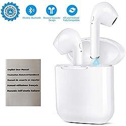 New I9 Casques sans Fil Bluetooth Écouteurs 5.0 sans Fil dans l'oreille en Cours d'exécution pour Femmes Hommes Sport Bluetooth Écouteurs Sport Écouteurs sans Fil Extérieure Portable