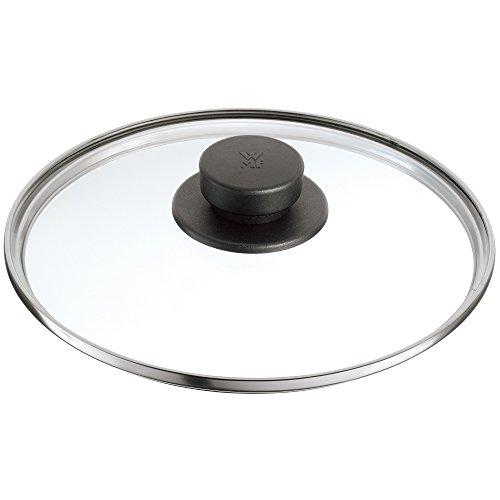 WMF Plus, Pro Tapa de Cristal con pomo sintético, Negro, 22 cm