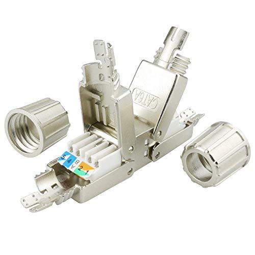 AIXONTEC Cat.6A LAN Netzwerk Verbindungsmodul Koppler LSA Adapter für Cat.7 LAN Ethernet Kabel geschirmt Netzwerk Verbinder mit metallischer Kabelverschraubung geeignet für CAT 6 cat. 6a (1) - Netzwerk-kabel-extender