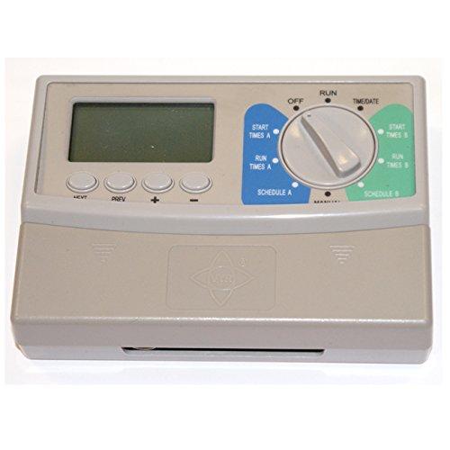 Programmierer elektrischen Bewässerung Bewässerung Elektrische 24V 6Stationen einfach programmieren. Funktioniert mit electrovalvulas von unabhängigen jede Marke. 2Programme und solapables (A und B). Anzahl Anfängen: 6Anfängen von Life. Programm des Zyklus: bis zu 7Tage. Zeiten der Programmierung: 1Minute bis 12Stunden. (Station 6 Sprinkler-timer)