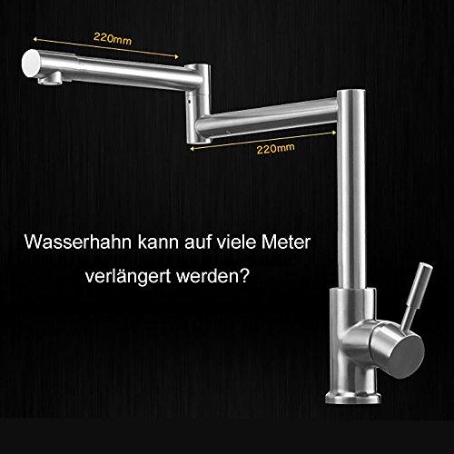Homelody – 720° drehbare Küchenarmatur aus Edelstahl - 3