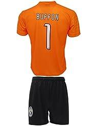 Conjunto Equipacion Camiseta Jersey Futbol Juventus Gianluigi Buffon 1 Replica Autorizado (12 años)