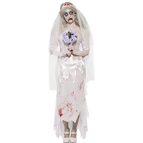 Geisterbraut Zombiekostüm Zombiebraut Kostüm S 36/38 Halloweenkostüm Braut Horrorbraut Karnevalskostüm Frauenkostüm Halloween Horror Damenkostüm Gothicbraut