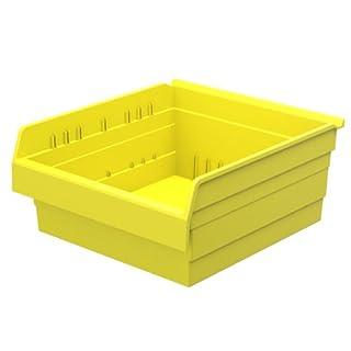 Akro-Mils 30818 ShelfMax 8 Plastic Nesting Shelf Bin Box, 18-Inch x 16-Inch x 8-Inch, Yellow, 4-Pack
