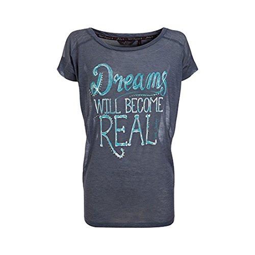Jockey - T-shirt - Femme Bleu Bleu - Denim Melange