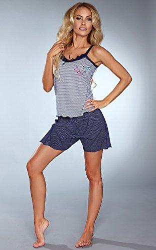 Livia Corsetti hübsches Shorty mit Punkten und zarten Streifen Blau