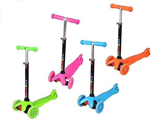 Iso Trade Kinderroller Cityroller Dreirad Roller 3-Rad Tretroller Kinder Farbauswahl 1107, Farbe:Orange