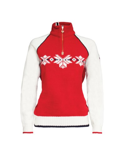 Dale of Norway Damen Sochi Pullover, Raspberry/Off White/Navy, L -