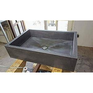 Beton Design Waschbecken/Aufsatzwaschbecken 100% Beton 65x45x16 cm