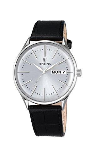 Festina Herren-Armbanduhr Analog Quarz Leder F6837/1