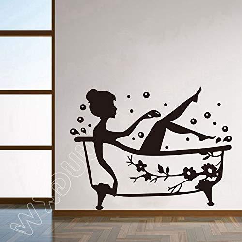 Glasduschtür Aufkleber für Kinder niedlich Dusche Wandaufkleber wasserdicht abnehmbare Baby Badezimmer Dekoration Wandaufkleber 58 X 76 CM