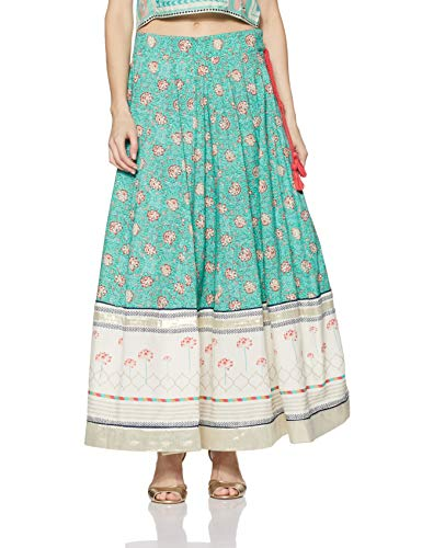 W for Women Full Maxi Skirt (18FE55383-50458_Green_WM)