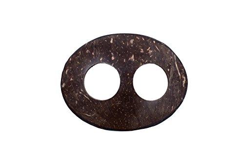 Sarongschnalle Pareo Wickel Rock Schnalle Spange Schliesse aus Kokos zum Sarong binden Oval (Kokos-schnalle)