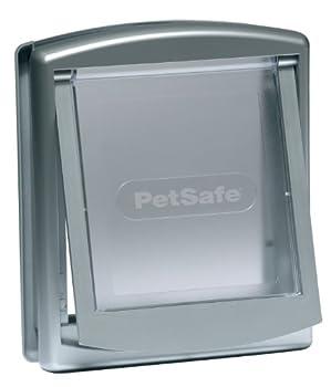 PetSafe - Grande Porte pour Animaux d'Origine Staywell (L), Chatière pour Chien de Grande Taille, Résistante, Battant Robuste, Panneau de Fermeture Inclus - Gris