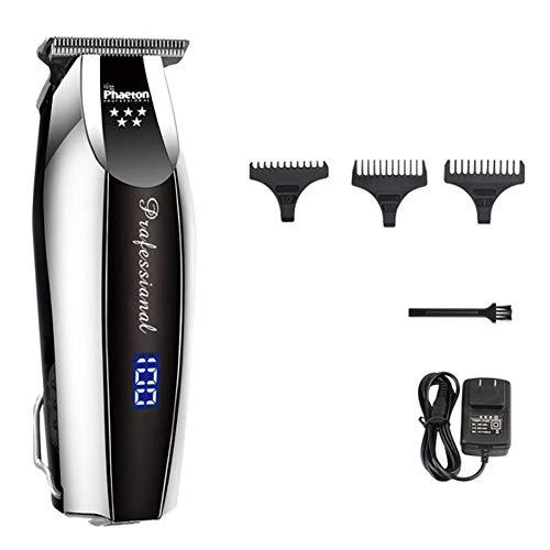 Haarschneidemaschine Elektrisch Professionel Präzision Haarschneider 0,1 mm Schneiden Kahl Kopf Rasieren Maschine Zuhause Barbier Werkzeug,Black (Kopf Rasieren-maschine)