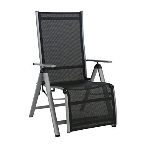 greemotion Relaxsessel Monza Comfort silber/schwarz, für den Innen- und Außenbereich, St