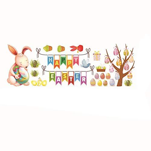 Shuda 1 x stickers murali pasqua adesivi per finestra di pasqua adesivi murali decorazioni vetrofanie per pasqua